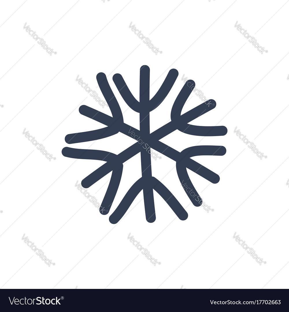 Christmas snowflake isolated