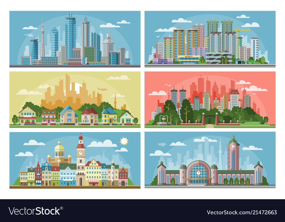 Cityscape city landscape with urban
