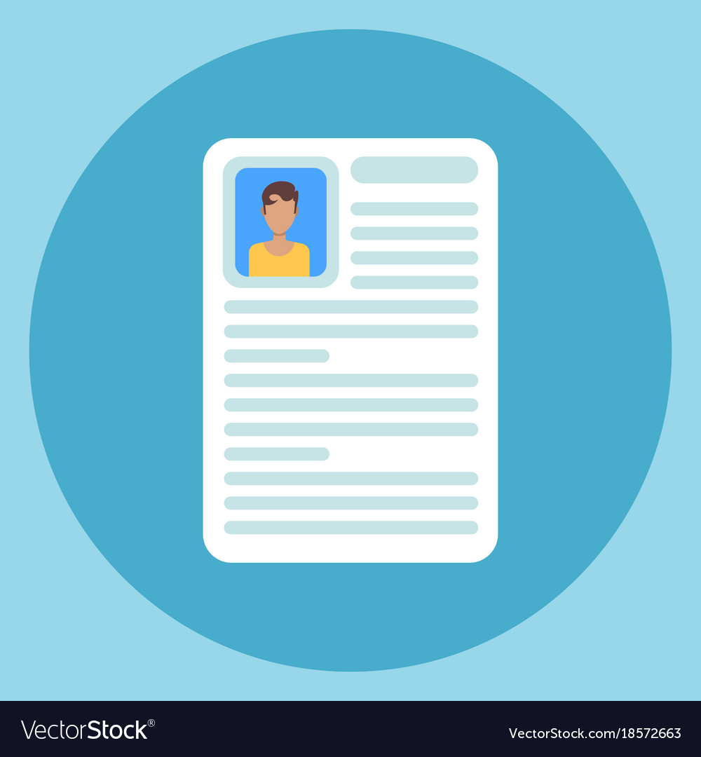 cv resume icon application form document vector image