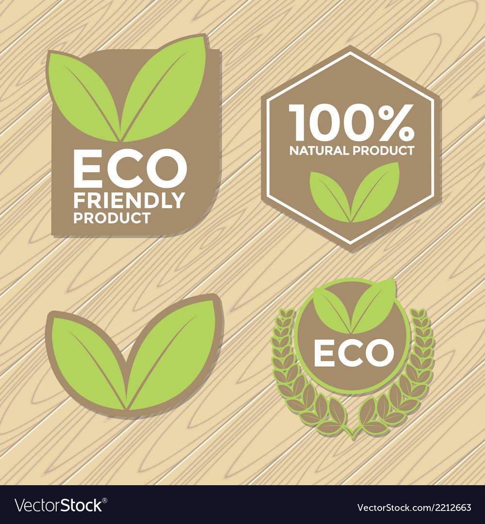 Eco Friendly Label Set Royalty Free Vector Image