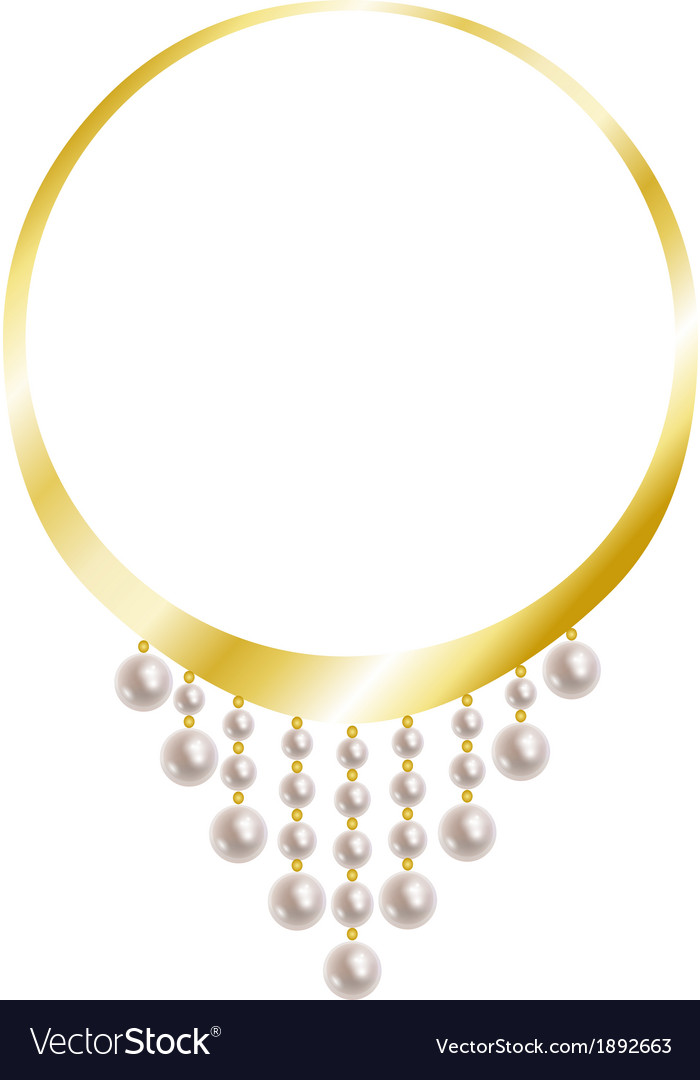 Gold necklace with pearl