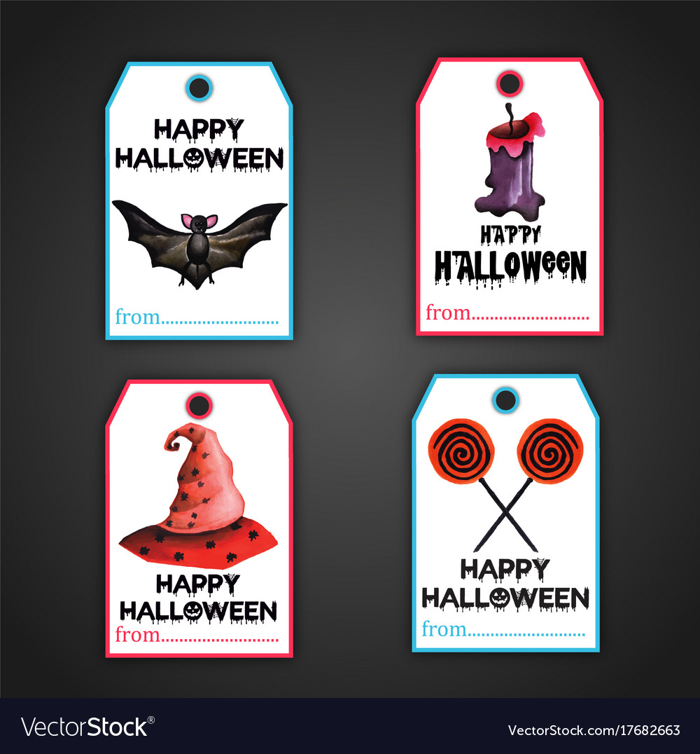 halloween tags collection royalty free vector image
