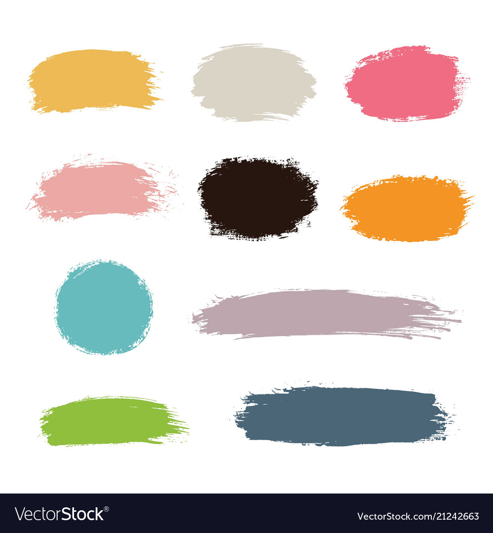 Hand drawn paint strokes