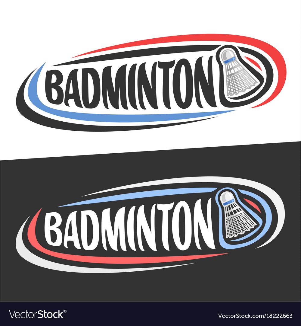 Logos for badminton