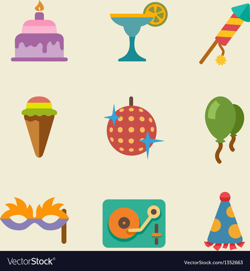 Party color icon set