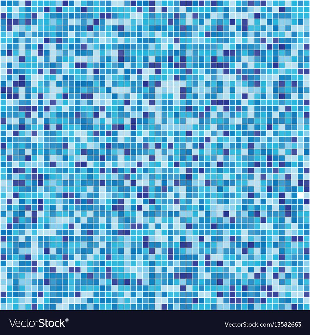 Pattern blue tiles texture vector image