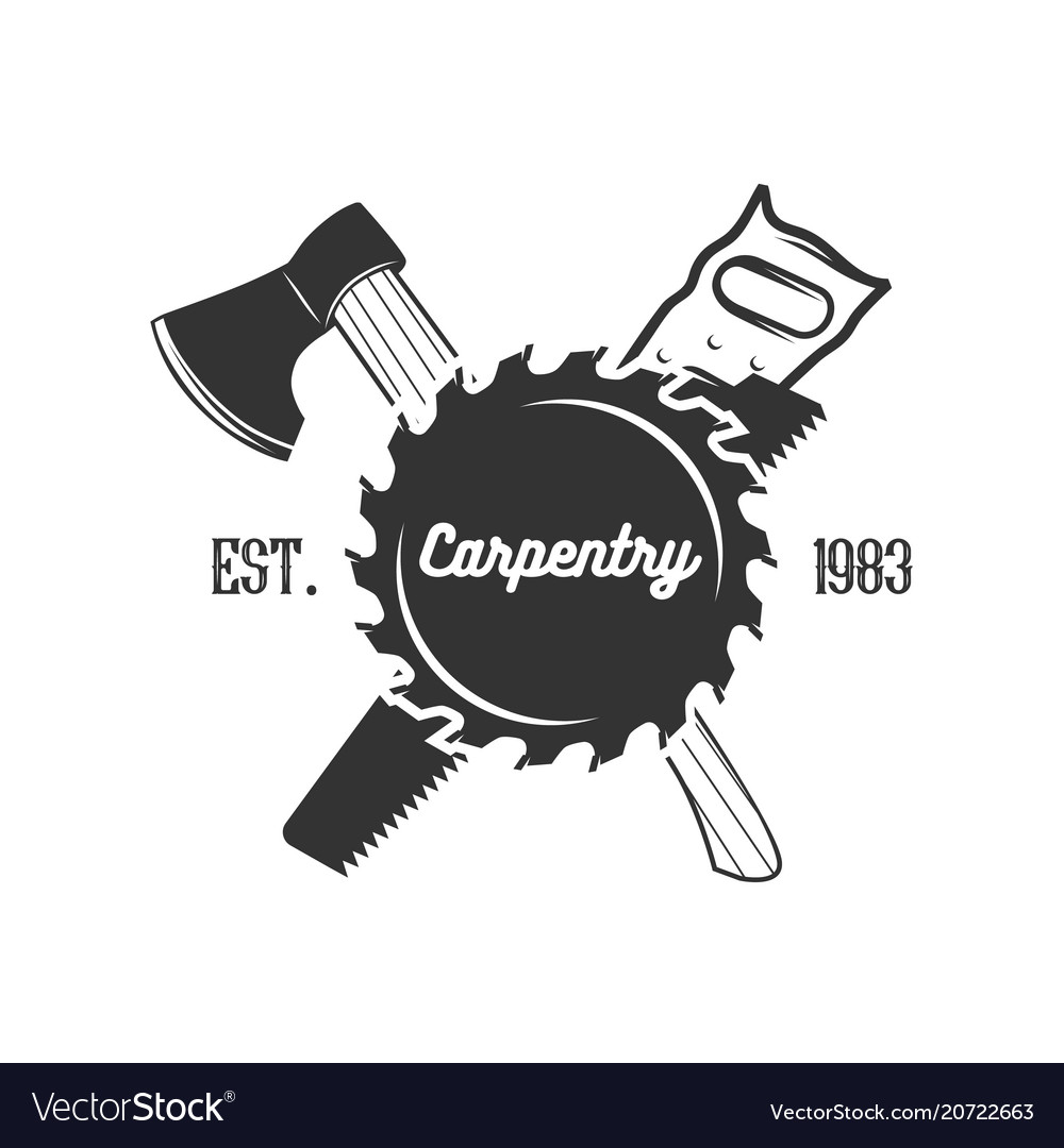 Set of carpentry logo templates