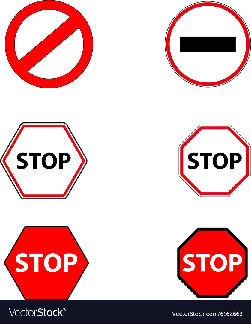 Sign stop and ban