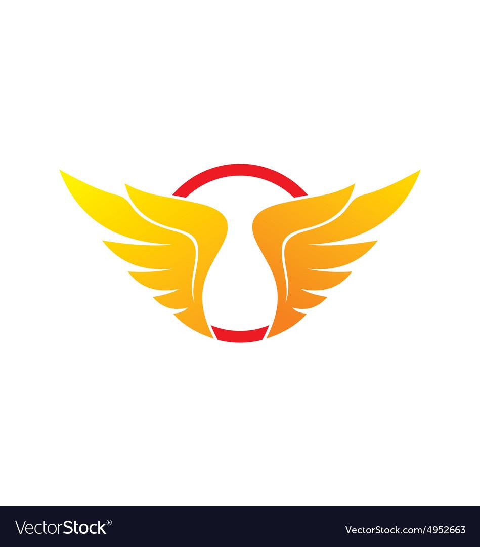 Wing abstract circle logo