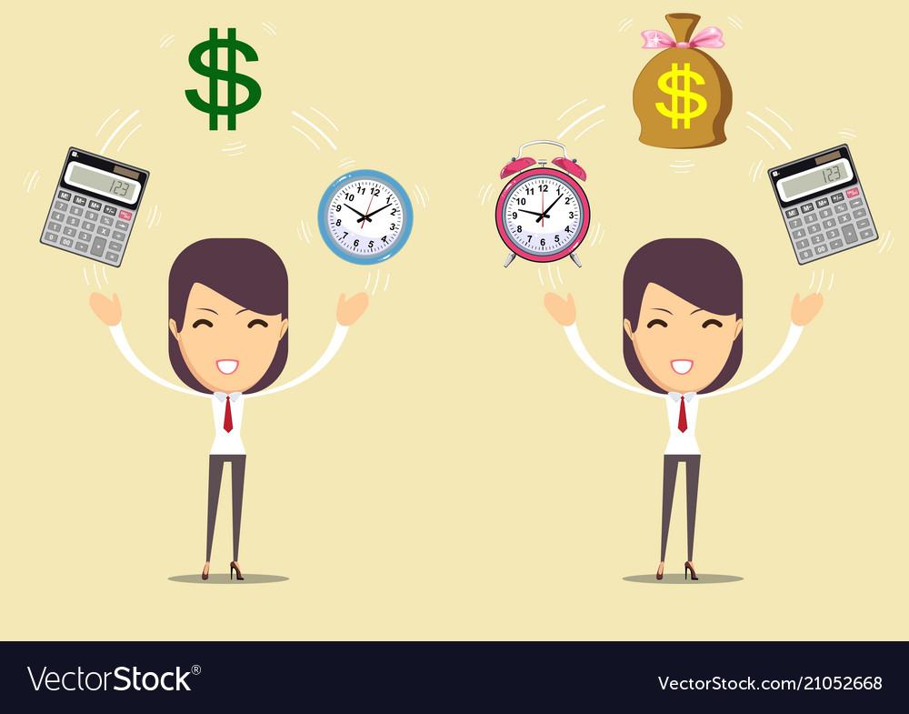 Accountant at work savings finances and economy