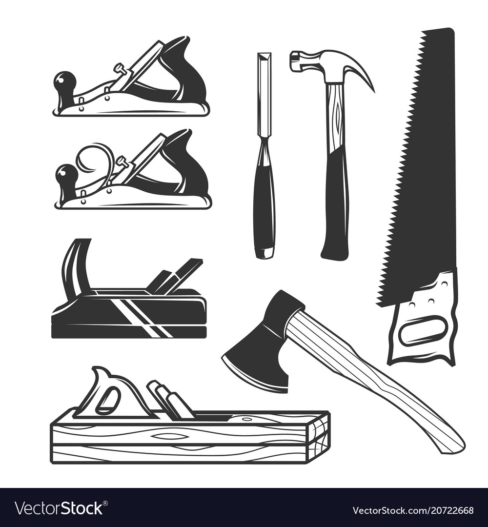 Carpentry Tools Logo Templates Royalty Free Vector Image