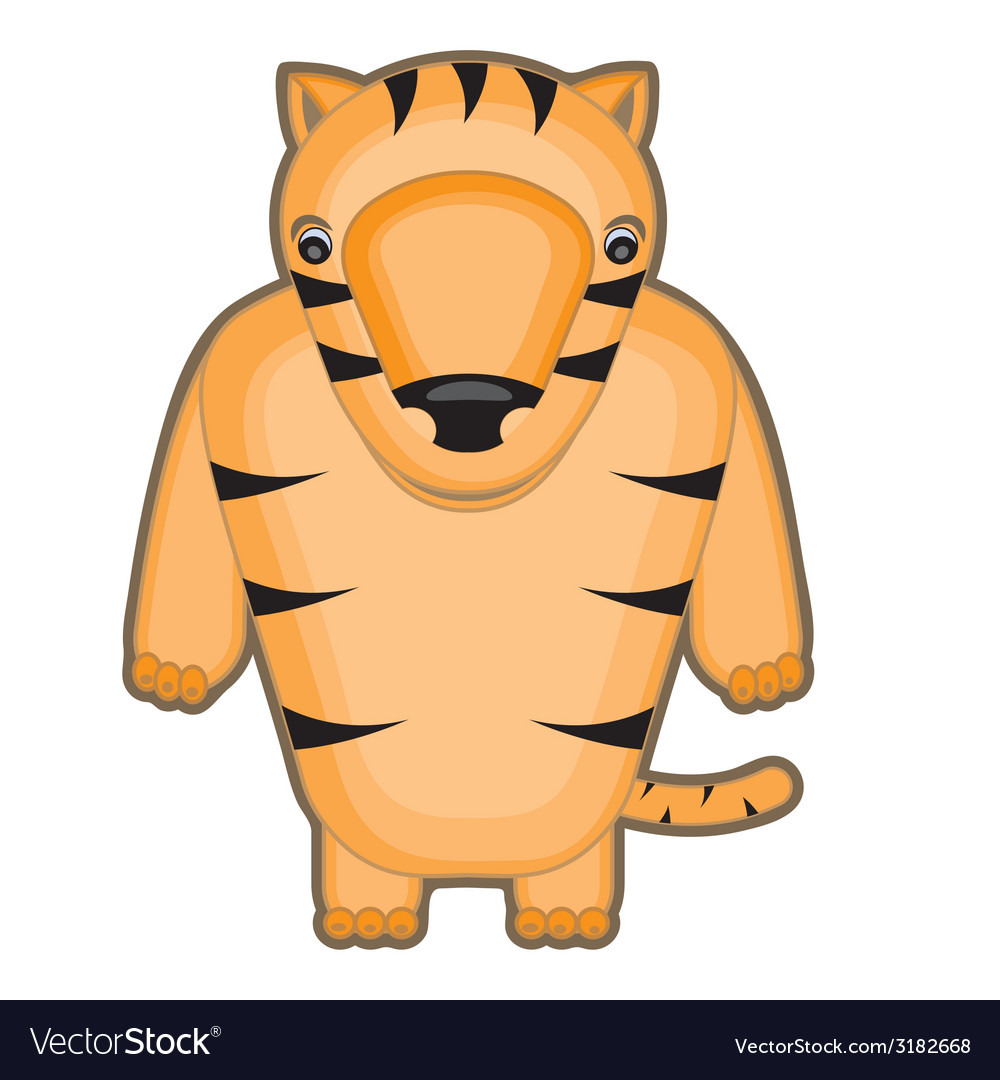 Cartoon of a baby tiger