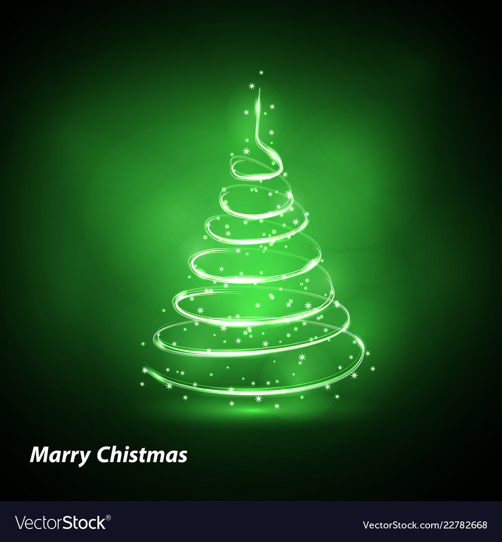 Christmas tree on transparent background gold