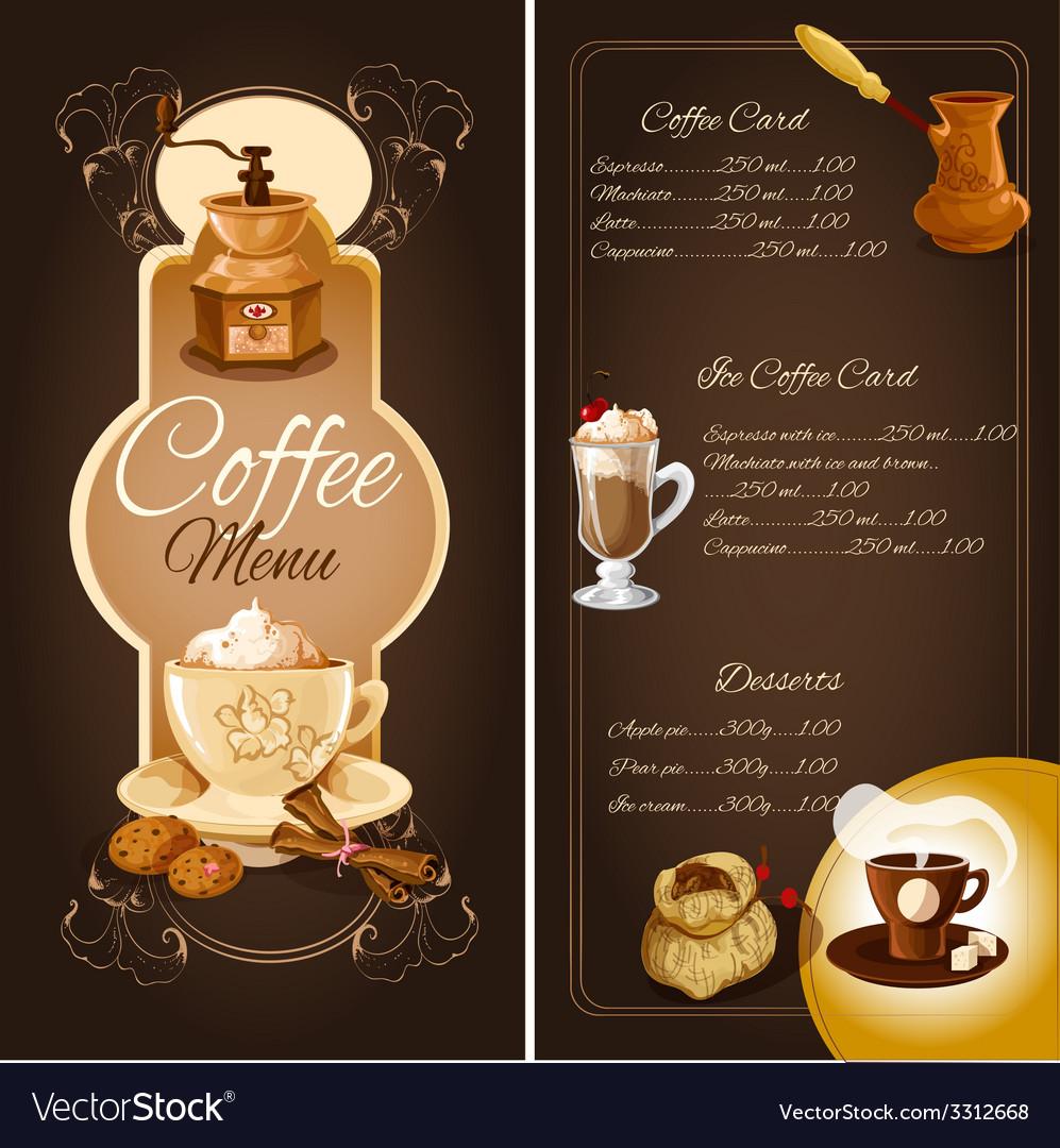 Coffee Cafe Menu Royalty Free Vector Image Vectorstock
