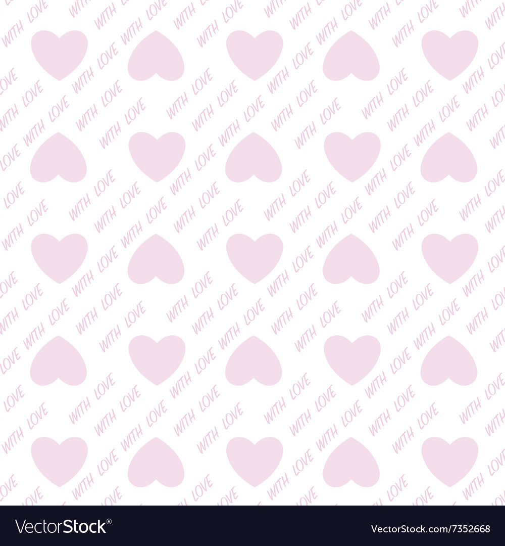 Heart shape love valentines day seamless pattern
