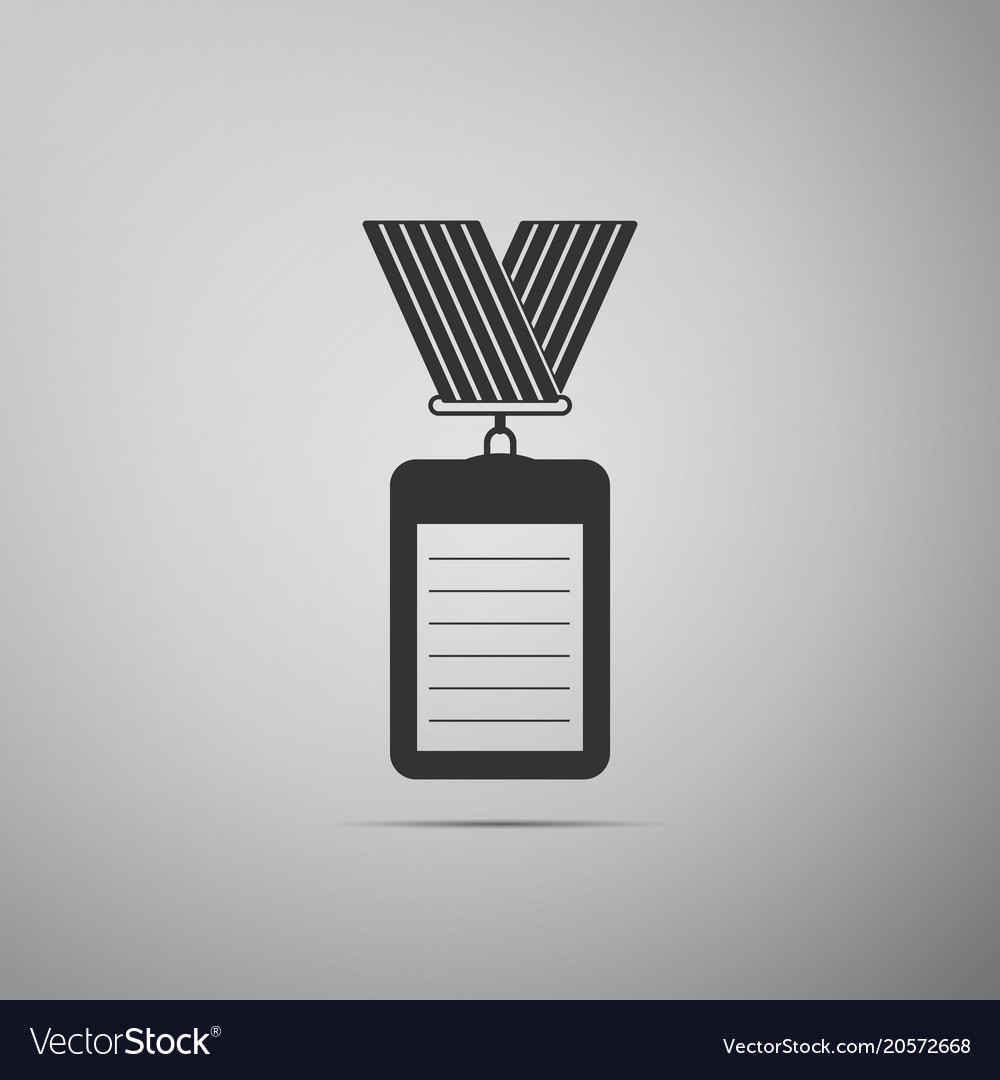 identification badge with lanyard icon royalty free vector