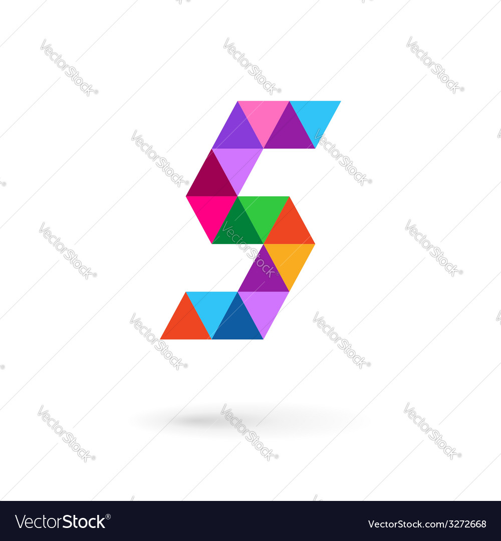 Letter S mosaic logo icon design template elements vector image