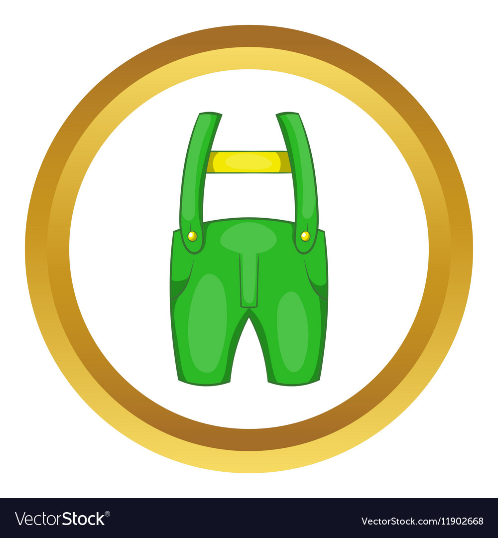 Pants with suspenders icon vector image