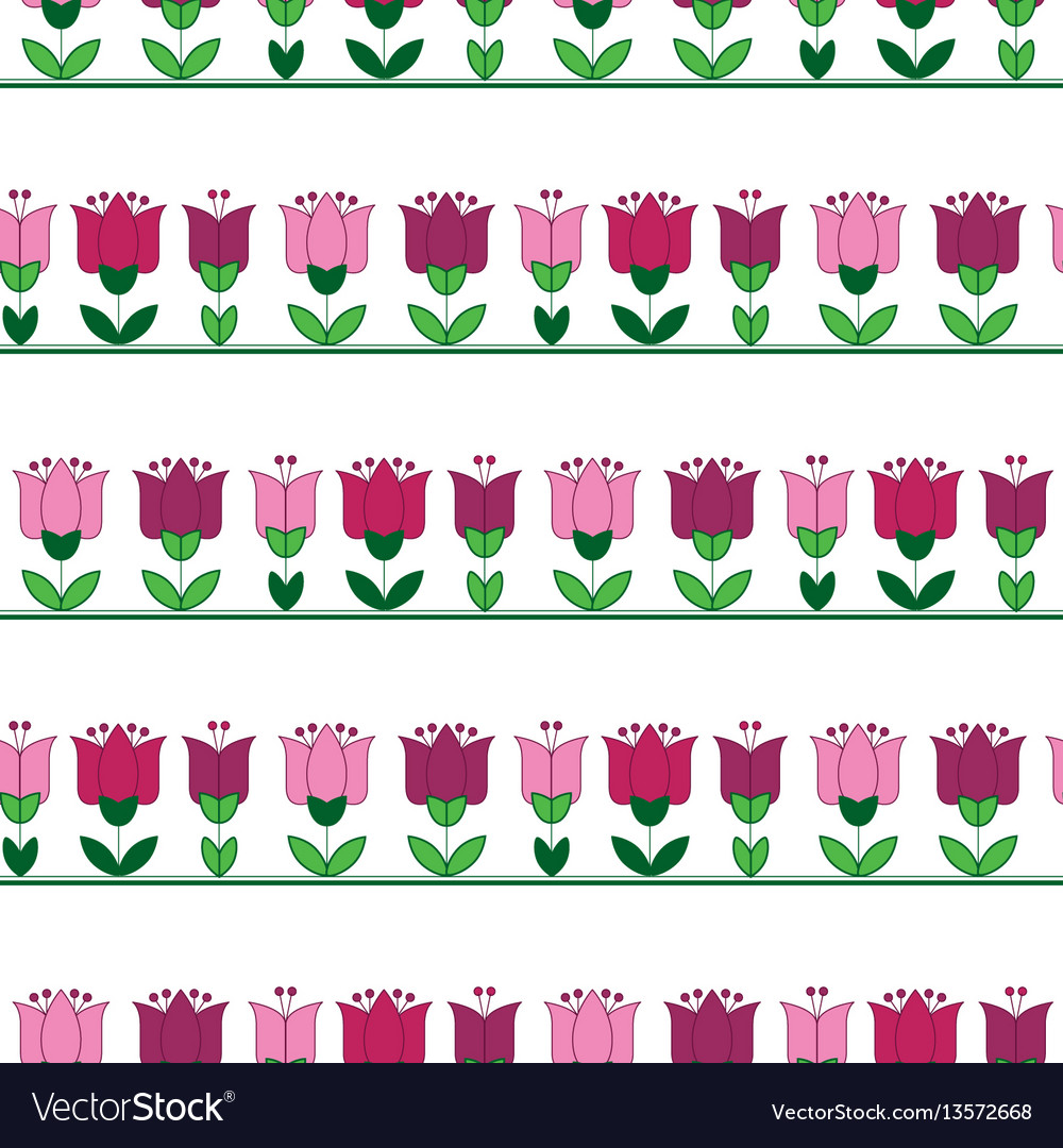 Red and pink color abstract tulip flower motif