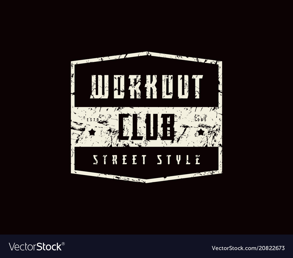 Emblem of workout club