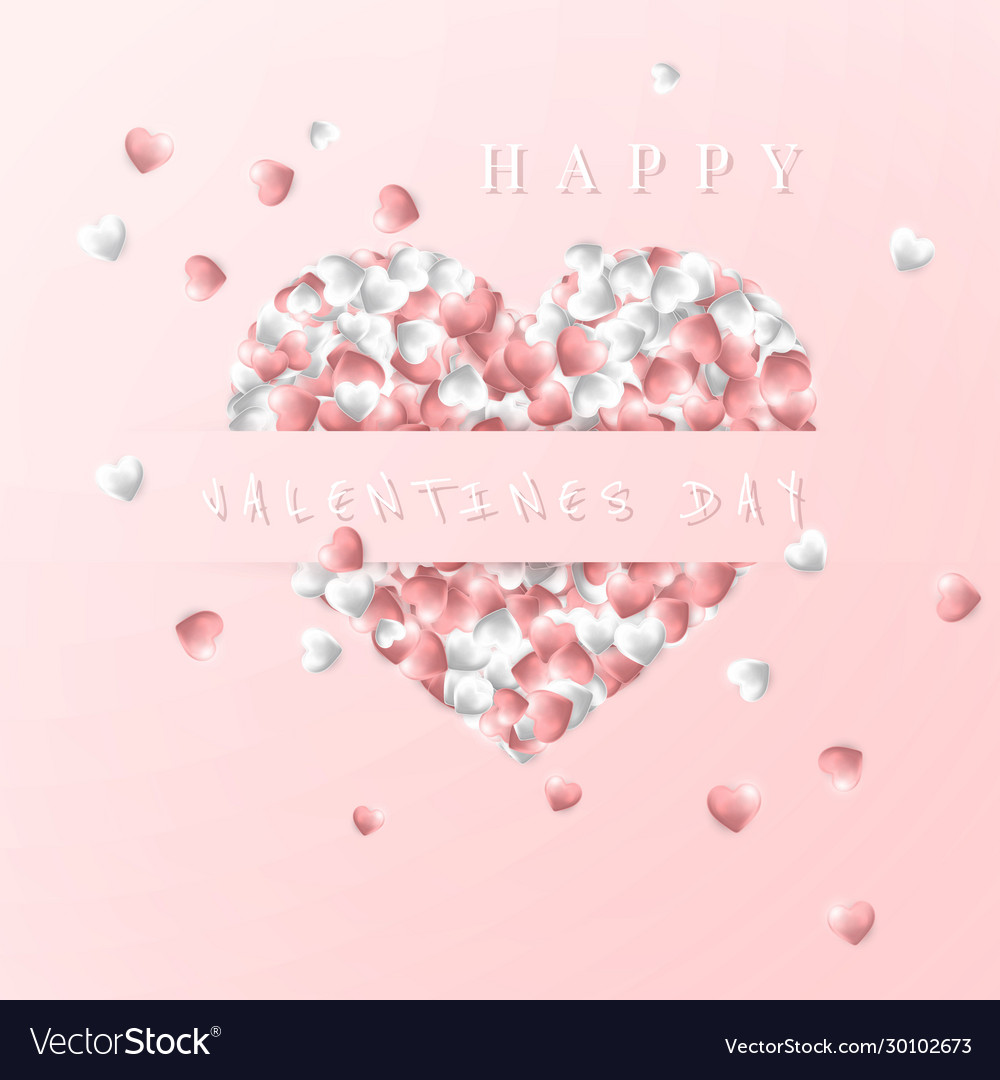 Happy valentines day background pink and white
