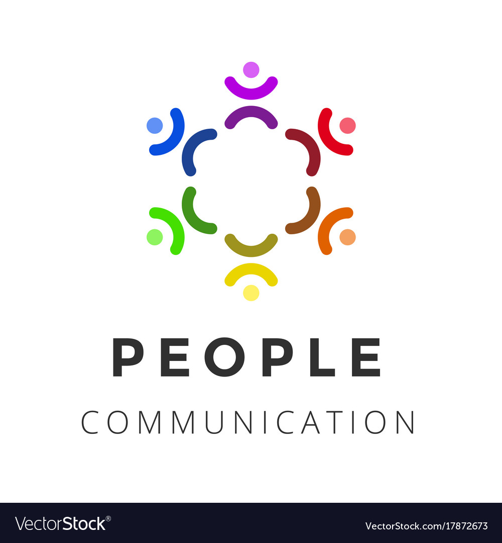 People man logo group logo design template vector image