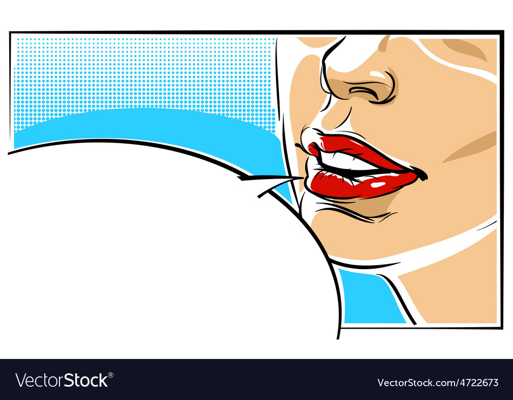 Pop art of a woman face