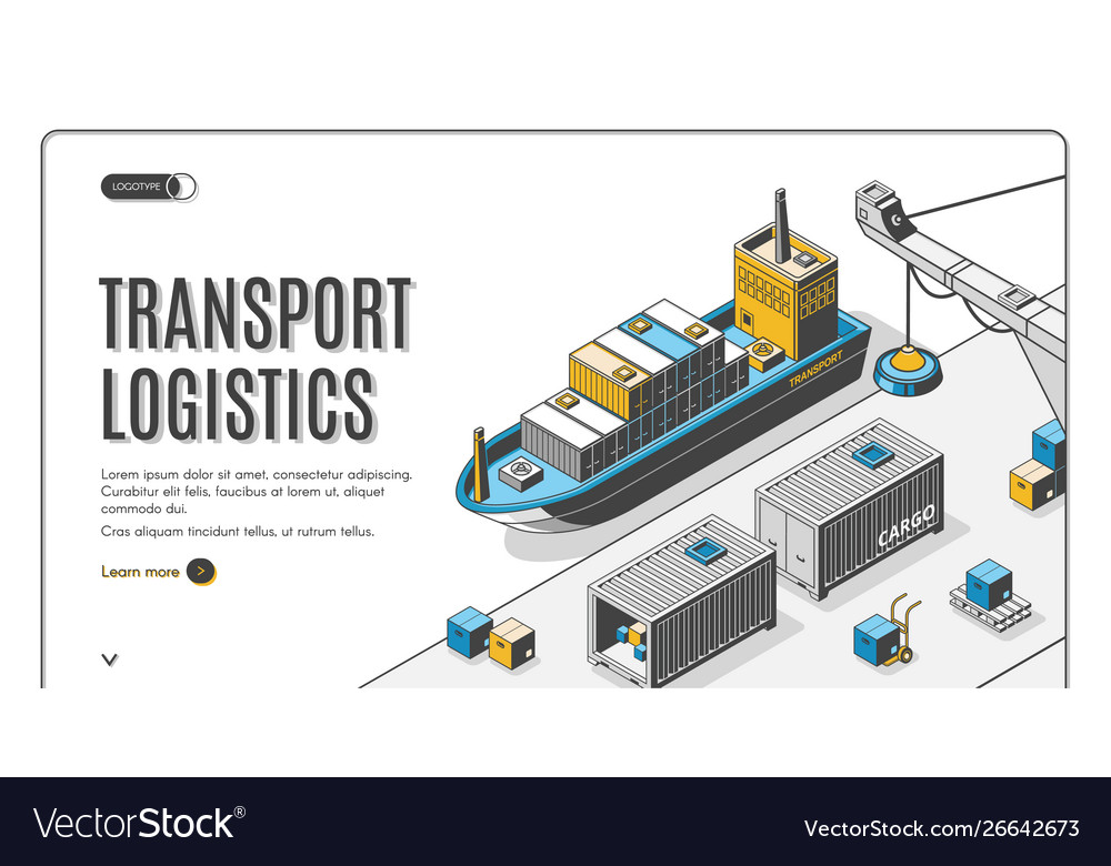 Transport logistics ship port delivery company