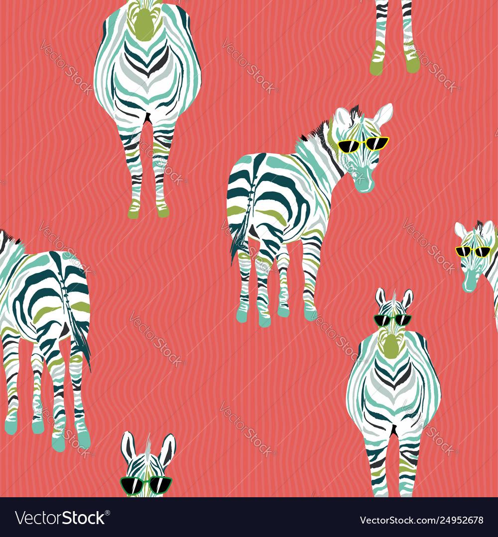 Abstract pattern fashion horse zebra background