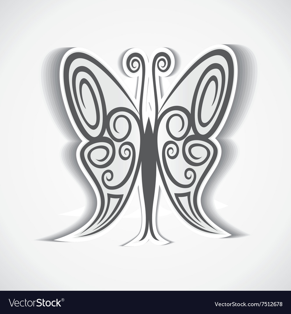 Black and white butterfly background