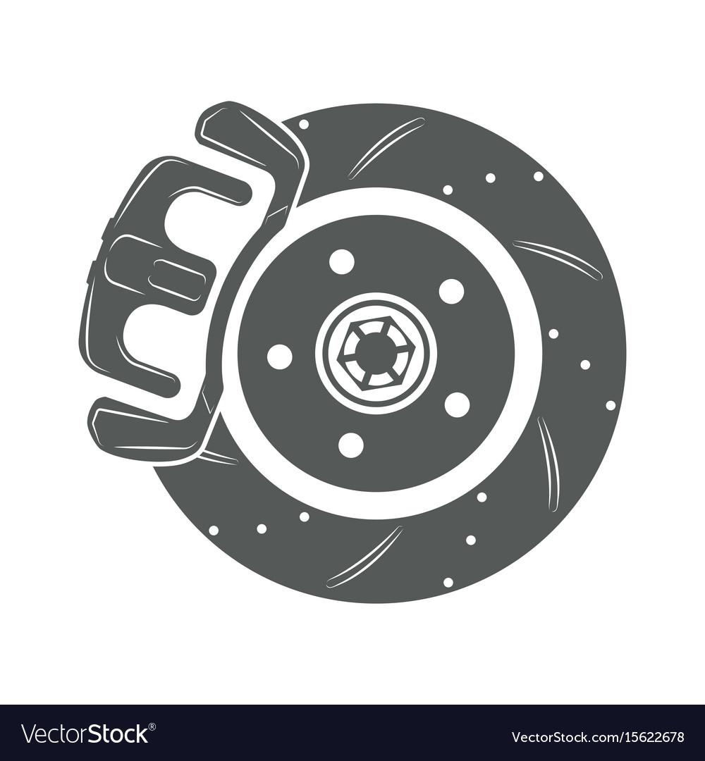 Brake disk icon vector image