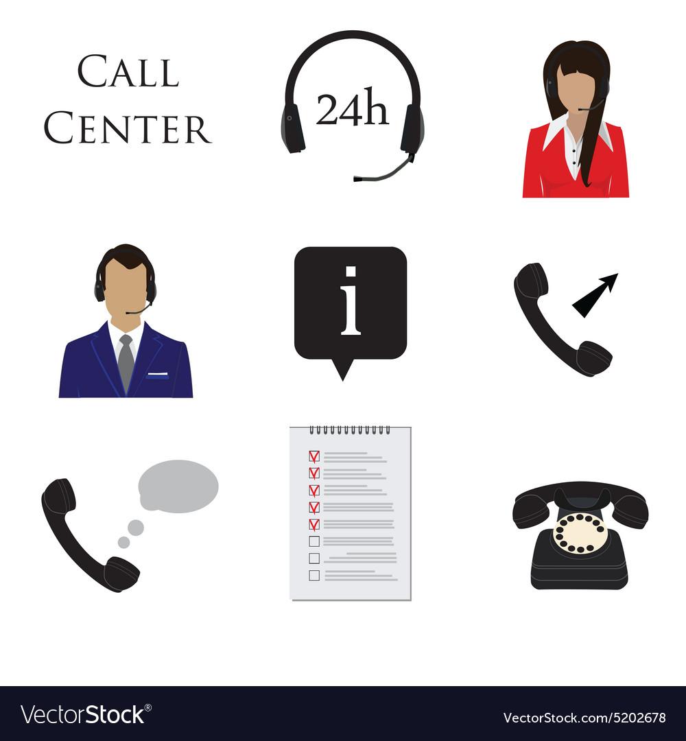 Call centre icon set