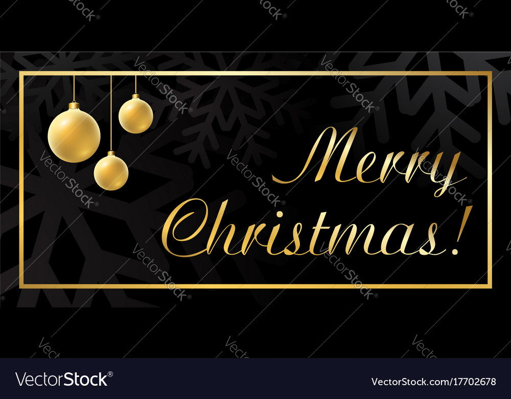 Christmas ball gold background vector image