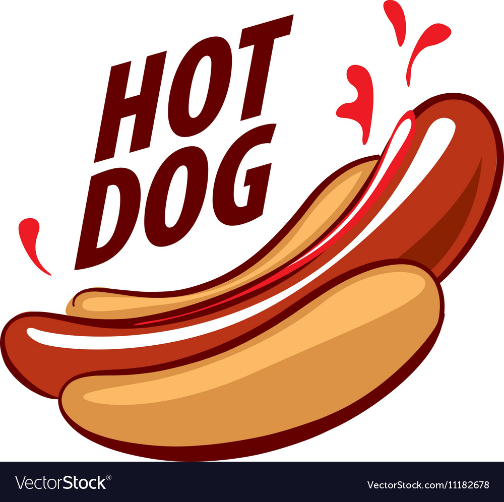 logo hot dog royalty free vector image vectorstock rh vectorstock com hot dog logos pictures hot dog logos pictures