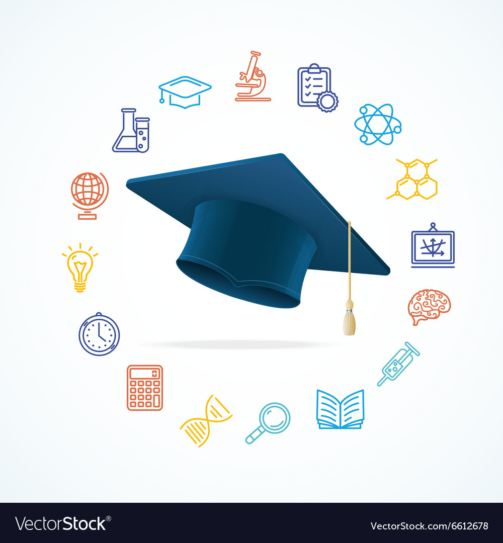 Science Education Concept and Icons Set