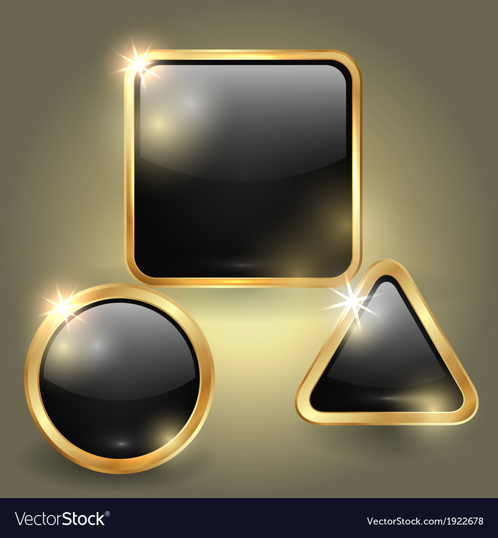 Set of glass button templates