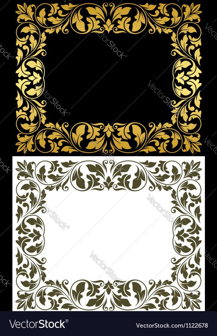 Vintage victorian frames Royalty Free Vector Image