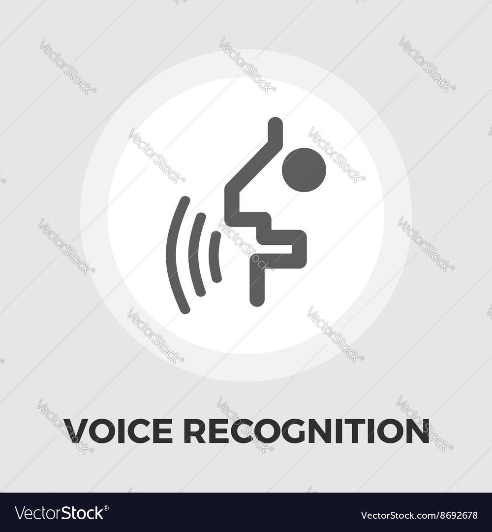 Voice recognition icon flat vector image