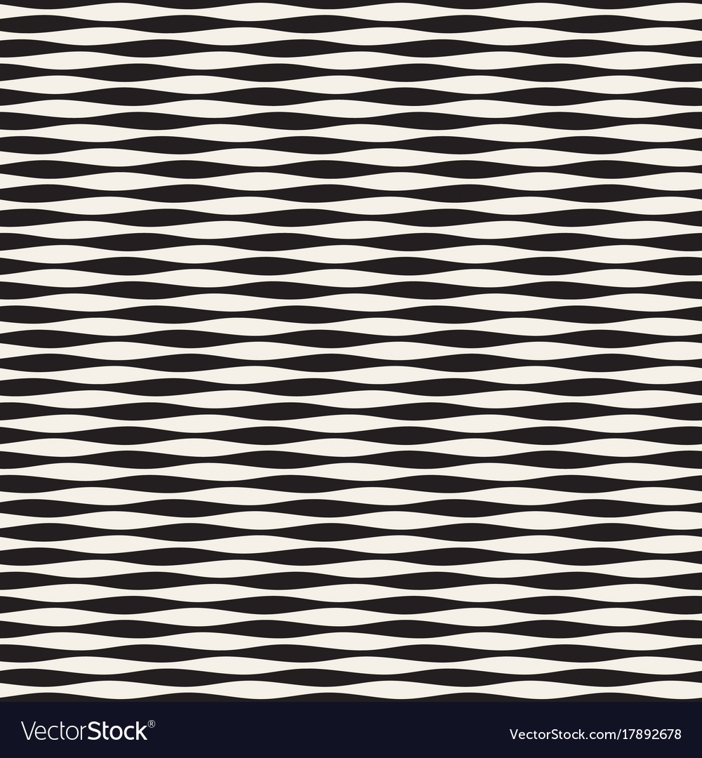 Wavy stripes seamless pattern retro wavy vector image