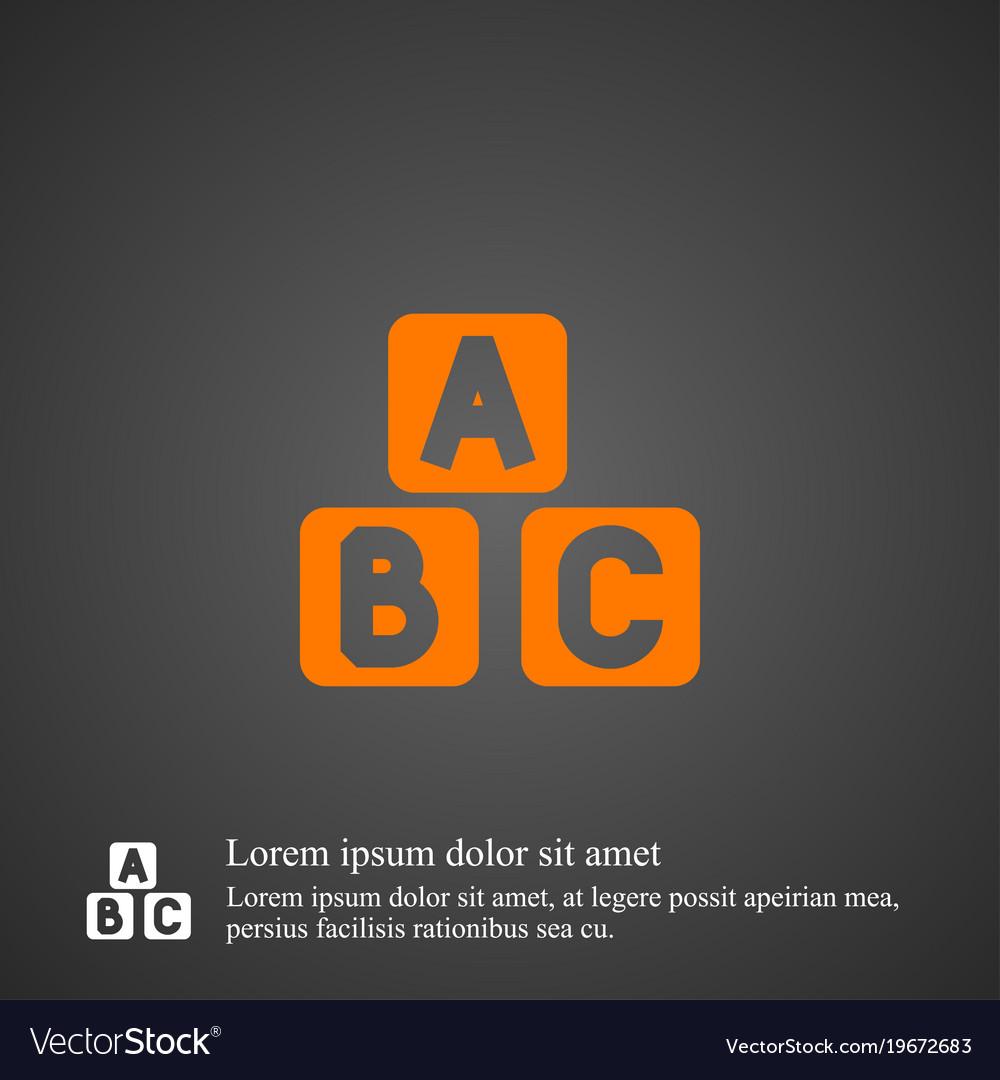 Abc cube icon simple