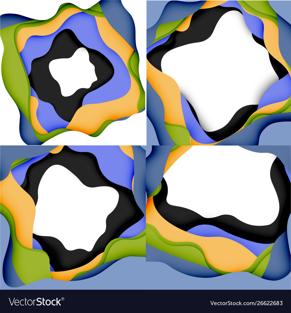 3d Abstract Art Layers