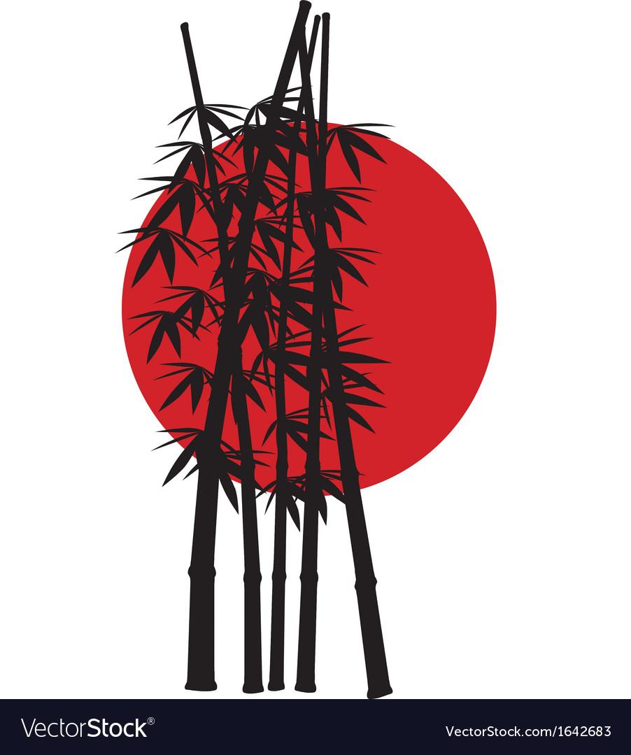 bamboo japan royalty free vector image vectorstock vectorstock