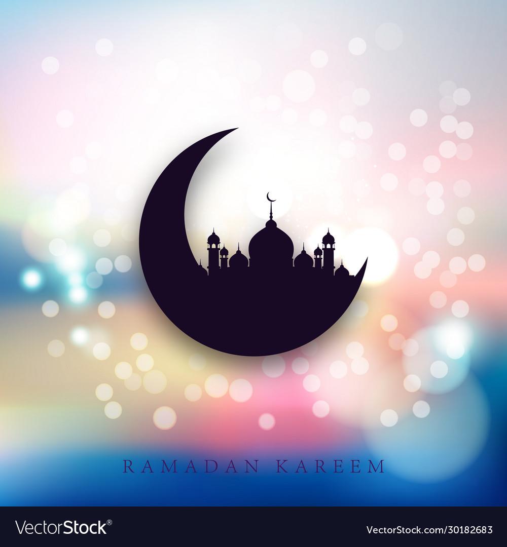 Holiday shiny ramadan kareem label lettering
