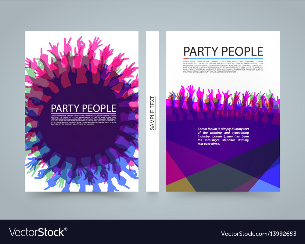 Modern colorful vertical music party banners
