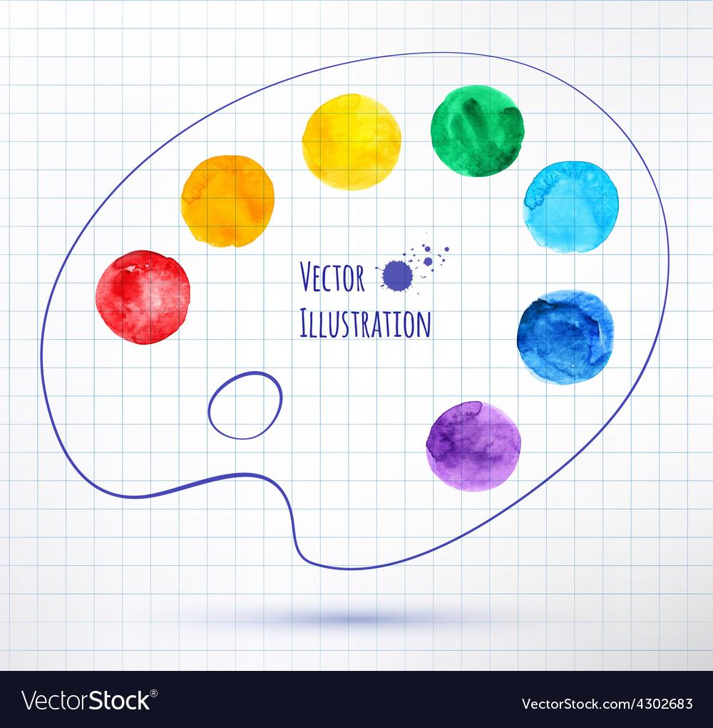 Paint palette vector image