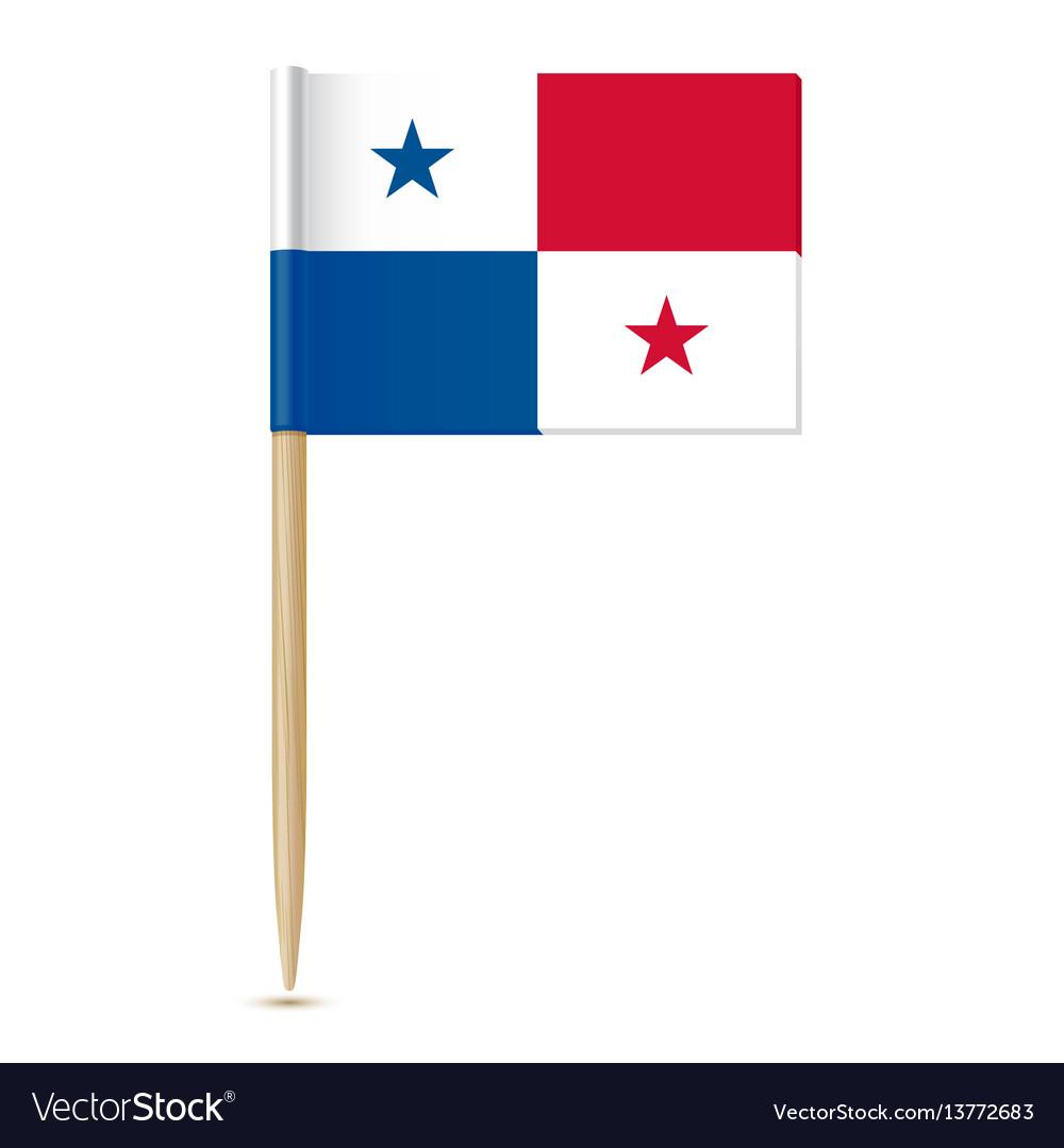 Panama flag flag toothpick 10eps
