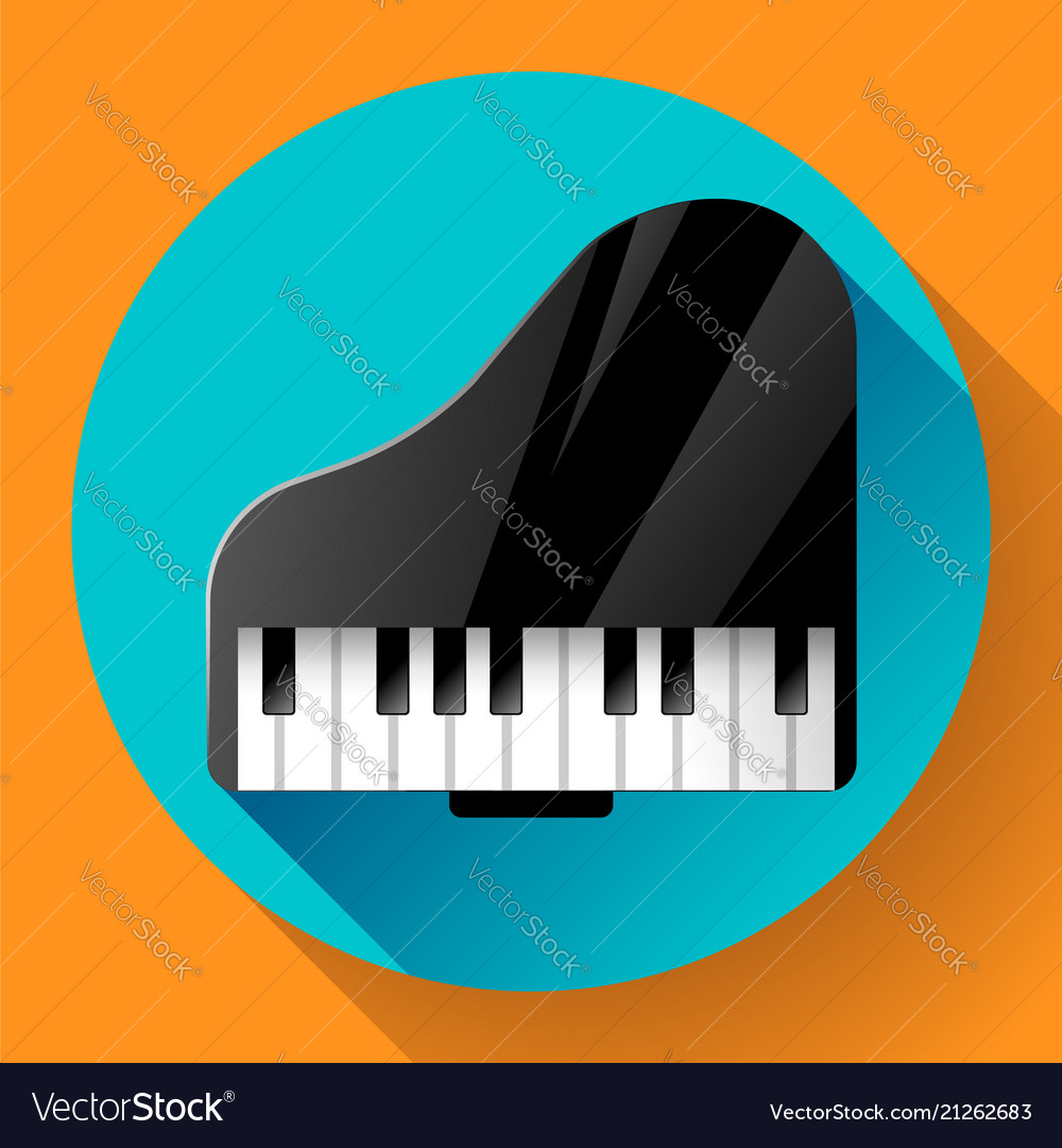 Piano icon - a symbol of classical music chamber