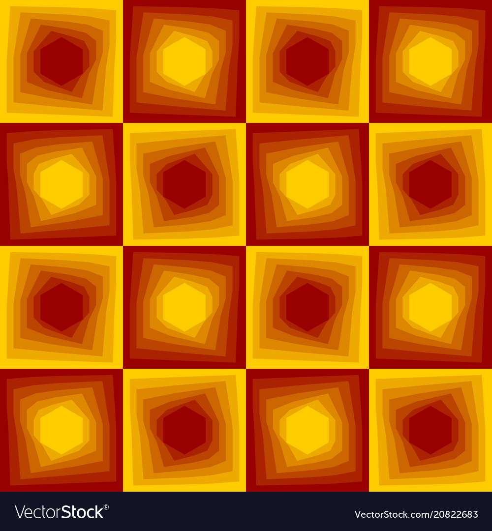 Red and yellow abstract background checker
