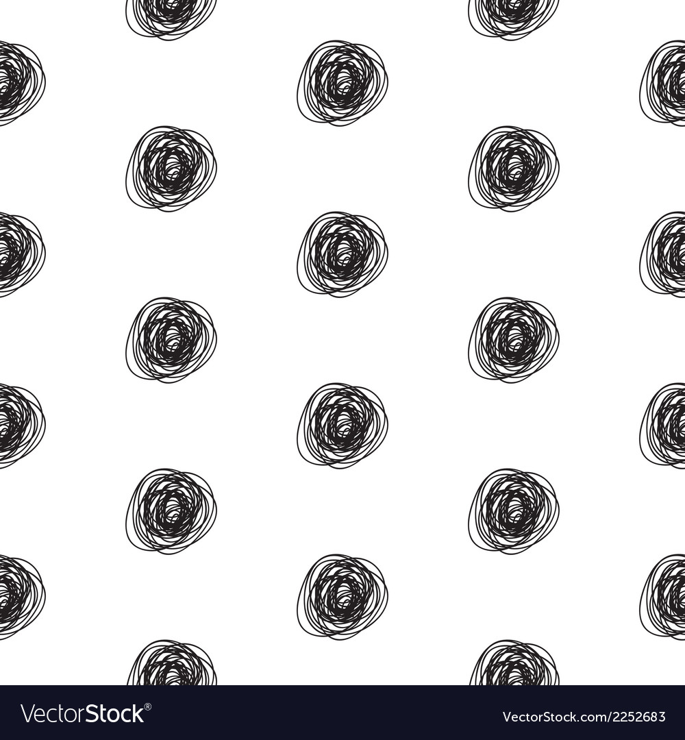 Seamless abstract scribble pattern vector image