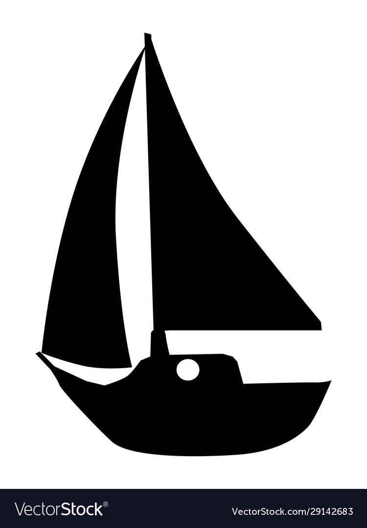 Silhouette yacht